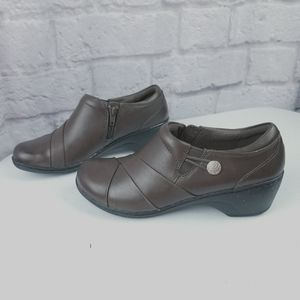 Clark's brown clogs booties size 7 shoes